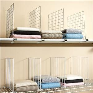 set of 4 shelf dividers   Lillian Vernon Brand new in package