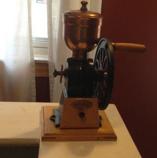Vintage Mr Dudley International Cast Iron Hand Crank Coffee Grinder