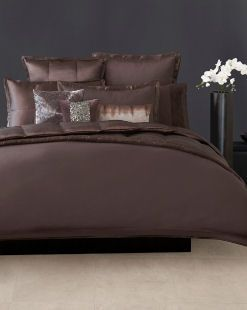 DONNA KARAN   Modern Classics Mink Dark Brown Full/Queen Duvet Cover