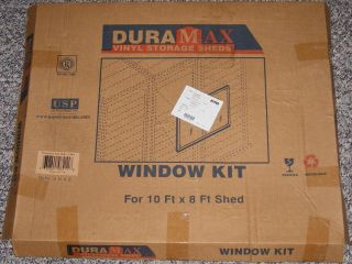 Duramax Vinyl Shed Window Kit Opened Never Used