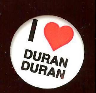 Old I Love Heart Duran Duran Pin Pinback Button