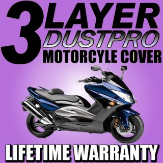 Motorcycle Scooter Bike 3 Layer MOTO Cover Outdoor Rain Sun Dust