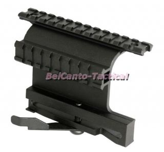 Tactical AK Saiga Style Dual Weaver Picatinny Rail Side Mount with