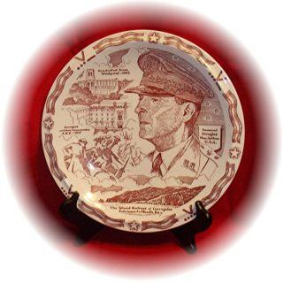 10 5 Plate Honoring General Douglas MacArthur Vernon Kilns Circa 1942