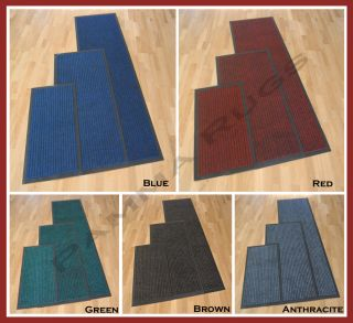RUNNER PVC RUBBER EDGED & BACKING 6mm THICK HOME KITCHEN DOOR MATS