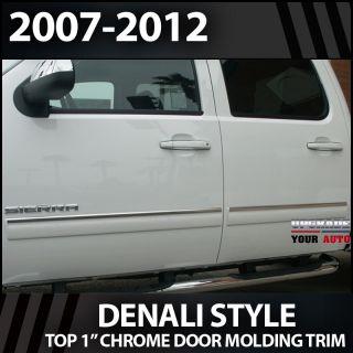 "2007 2013 GMC Sierra HD Crew Cab 1"" Chrome Door Trim"
