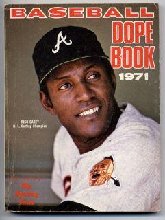Baseball Dope Book 1971 Sporting News Statistics