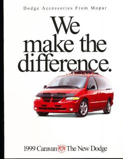 1999 Dodge Caravan Accessories Sales Brochure Book