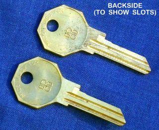 Vintage DPCD Logo Brass Uncut Keys Mopar Door Ignition B s 82594