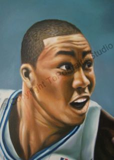 Dwight Howard Orlando Magic   Original Basketball NBA Oil Painting on