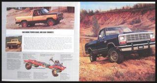 1981 Dodge Pickup Truck Brochure RAM 150 250 350