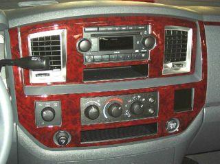 Dodge RAM 1500 2500 3500 Interior Wood Carbon Dash Trim Kit 2009 2010