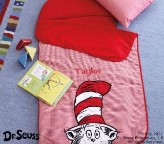 Pottery Barn Kids Dr Seuss Nap Mat Cat in The Hat Red New Sleeping Bag