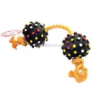 INCREDIBLE STRAPPING Chew Rope Rubber Ball Toy Pet Dog Cat Funny Toy