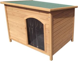 Wooden Dog Kennel Pet House Outdoor Waterproof Shelter
