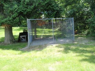 XLARGE CHAIN FENCE Kennel DOG PEN PANELS w. DOOR pickup only 16x10x6