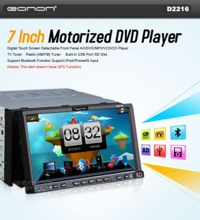 LCD TV in Dash Car 2Din iPod iPhone FM Stereo DVD Player 0 01