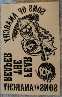 Anarchy Temporary Tattoos Promo From DVD Release of Season 4 Cool Item