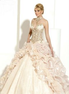 Sexy 2012 Quinceanera Pageant Dresses Ruffled Wedding Prom Ball Gowns