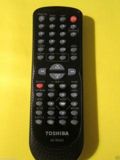 Toshiba DVD VHS Player Remote Control SE R0323
