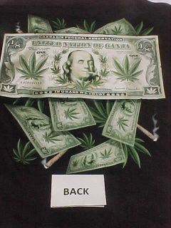 Marijuana Leaf Cannabis New T Shirt Dollar Bill 1 8