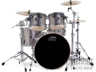 DW Performance Series Maple Drum Set 10 12 16 22 Titanium Sparkle