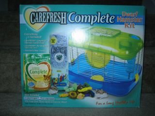 Carefresh brand dwarf hamster cage kit previously used in original box