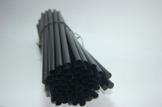 100 Black Giant Drinking Straw 8 for Frozen Cocktail Smoothie Shake