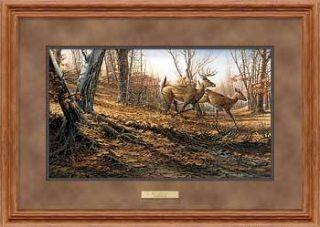 gallery now free terry redlin autumn run framed deer print