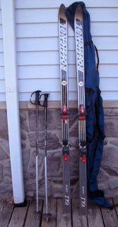 Rossignol Equipe 4S Downhill Skis Bindings Poles Bag 195