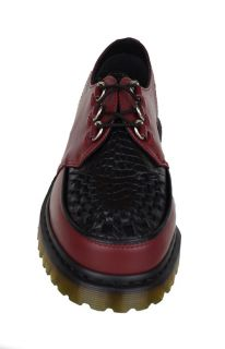 Dr Martens Mens Shoes Ramsey Red Black Leather 10491601 Sz 12 M