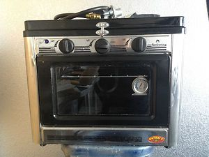Gourmet Propane Oven Stove Vintage Travel Trailer Tear Drop Tail Gate