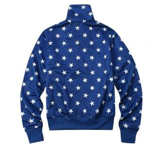 Adidas Women Firebird Blue Star Track Top Jacket M