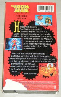 The Origin of Iron Man VHS Movie Fox Kids Video 1997 Tony Stark