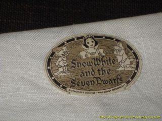 1938 Walt Disney Enterprises Snow White Sleepy Kitchen Towel Louis