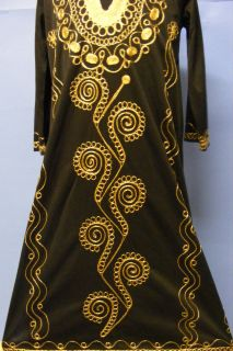 Morocco Moroccan Gold Black Girl Boy Arabic Islamic Galabiya Abaya