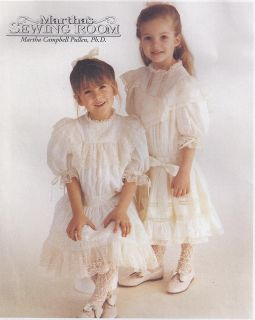 ~ Martha Pullens Sewing Room Girls Heirloom Dress Sewing Pattern