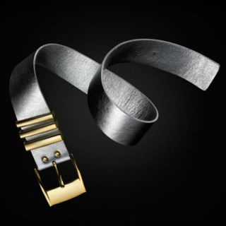 NWT New Versace H M Silver Leather Belt XS Limited Ed Free Worldwide