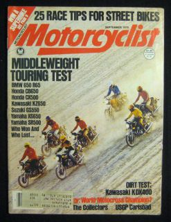 Motorcyclist Magazine September 1979 Kawasaki KDX400