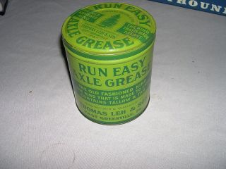 Old Thomas Leh Son East Greenville PA Axle Grease Tin Can