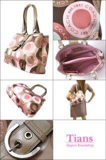 Coach New Authentic Signature Tote Lynne Carryall Handbag Purse Soho
