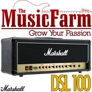 Marshall DSL DSL100H 100 Watt All Tube Electric Guitar Amplifier Amp