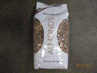 48 oz Wonderful Dry Roasted Salted Almonds