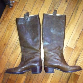 DRIES VAN NOTEN Butter Smooth Brown Leather Cowboy Boot Style Size 37