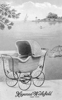 BEST Antique Victorian Era Heywood Wakefield Wicker & Oak Chair with