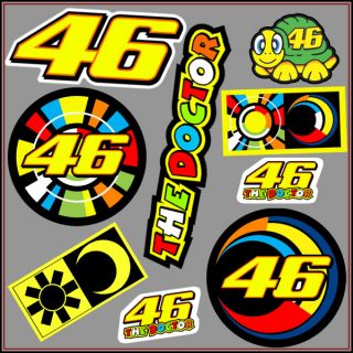 9x Aufkleber Pack Sticker Valentino Rossi Decal Vinyl MotoGP The