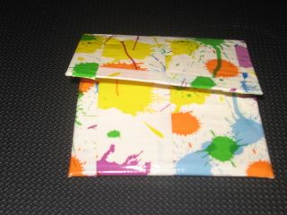 Handmade Duck Brand Duct Tape Small Wallet Coin Purse Pocket Paint