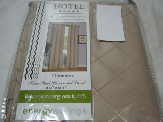 Duck River Textile Diamante Hotel Champagne Foam Back Grommeted Window