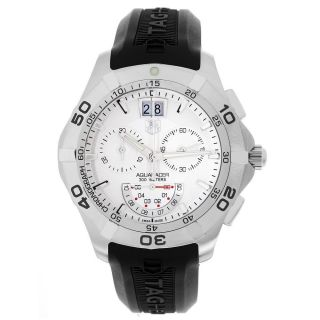 Tag Heuer Mens CAF101B FT8011 Aquaracer Grande Date Watch White Face
