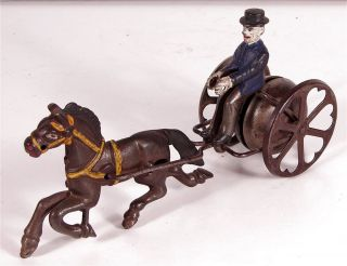 Iron Horse and Driver 618 Bell Toy Pull Toy by Watrous Mfg Co
